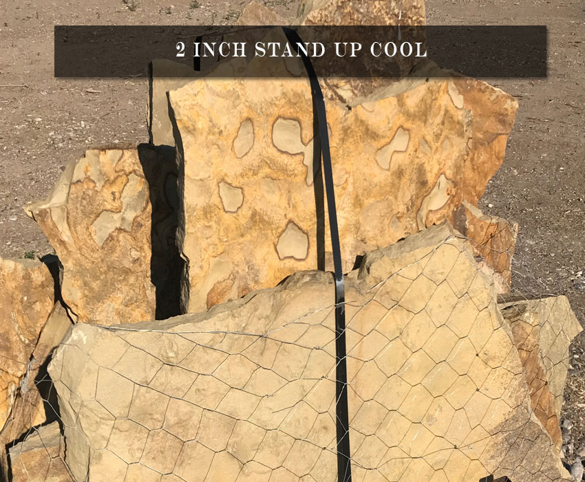 stand up landscaping stone