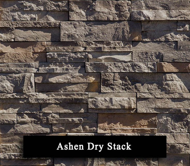 ashen dry stack - manufactured stone