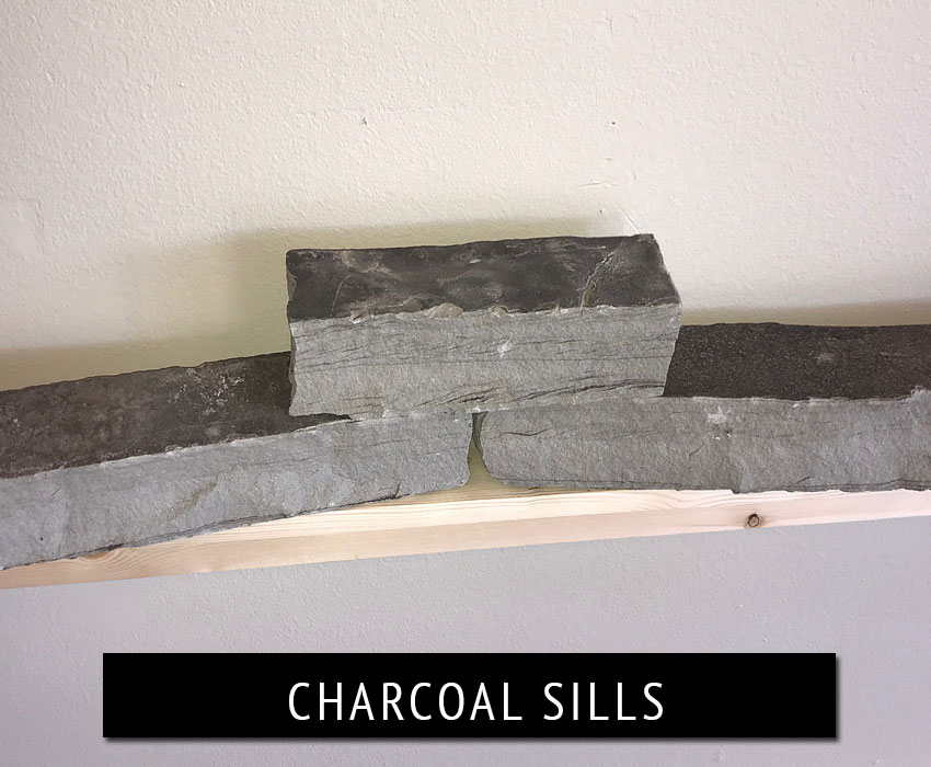 charcoal sills - natural stone