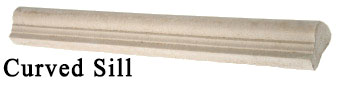 curved sill - manufactured stone