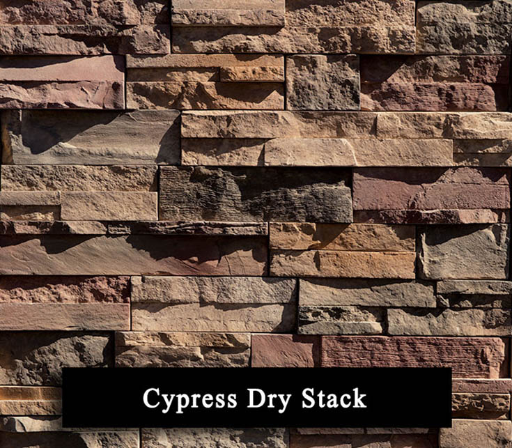 cypress dry stack - manufactured stone