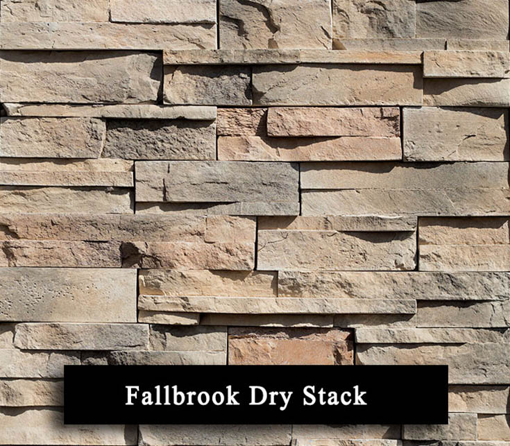 fallbrook dry stack - manufactured stone