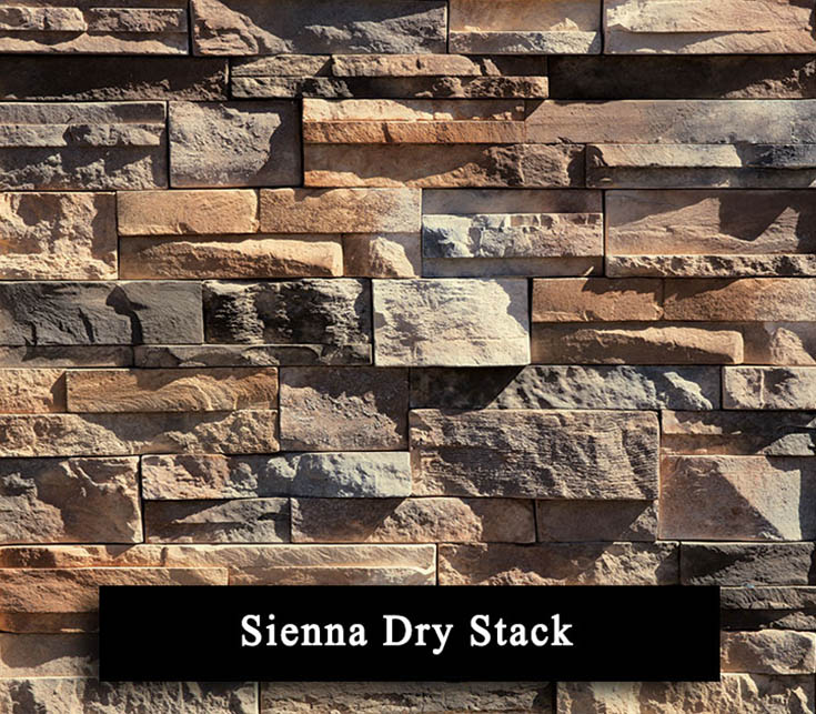 sienna dry stack - manufactured stone