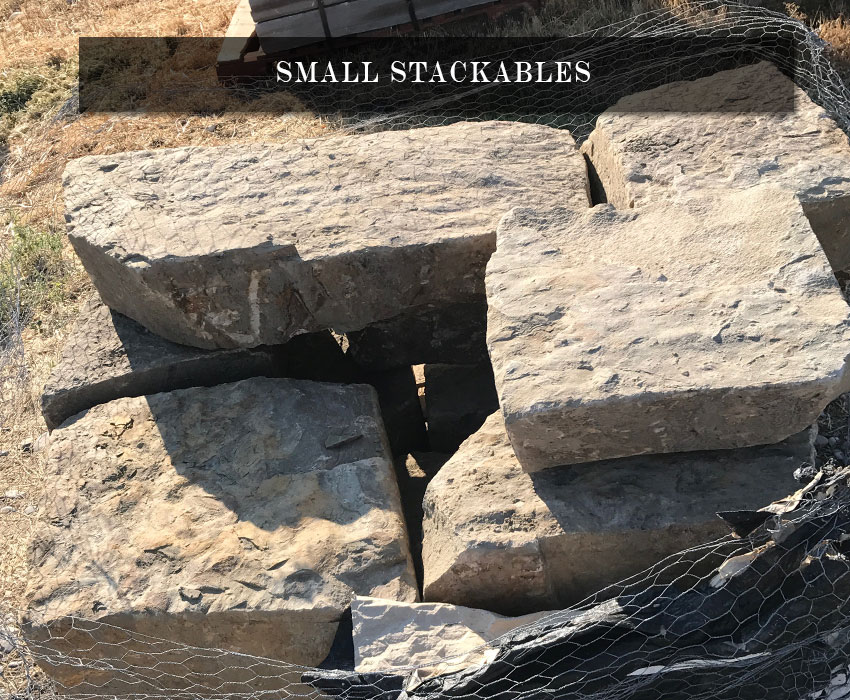 small stackable landscape rocks