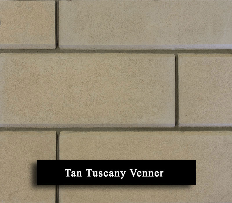 tan tuscany venner - manufactured stone