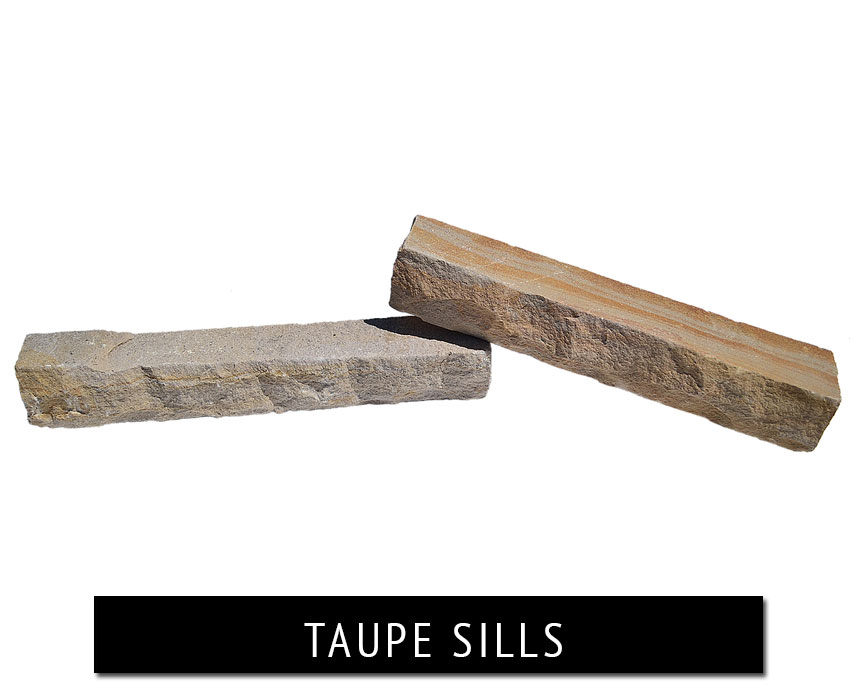 taupe sills - natural stone