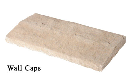 wall caps - manufactured stone