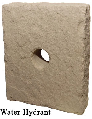 water hydrant block - manufactured stone