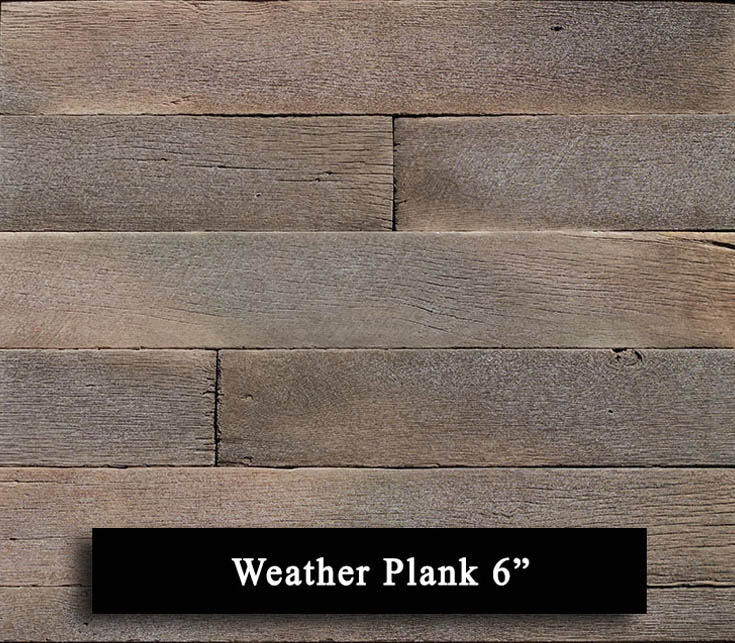 weather plank 6 inch manufactured stone