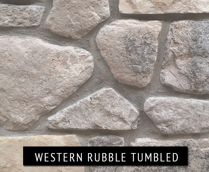 western rubble tumbled - natural stone