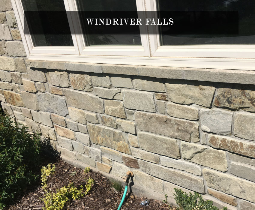 windriver falls - residential natural stone